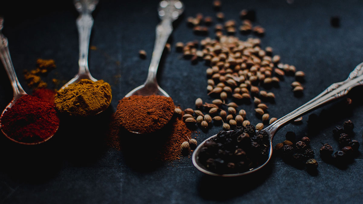 catering with spices and tastes