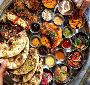 Punjabi style thaali