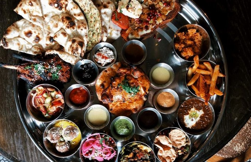 Indian thaali style dishes